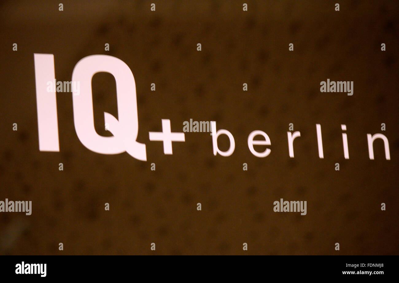 Markenname: 'IQ Berlin', Berlin. - Stock Image