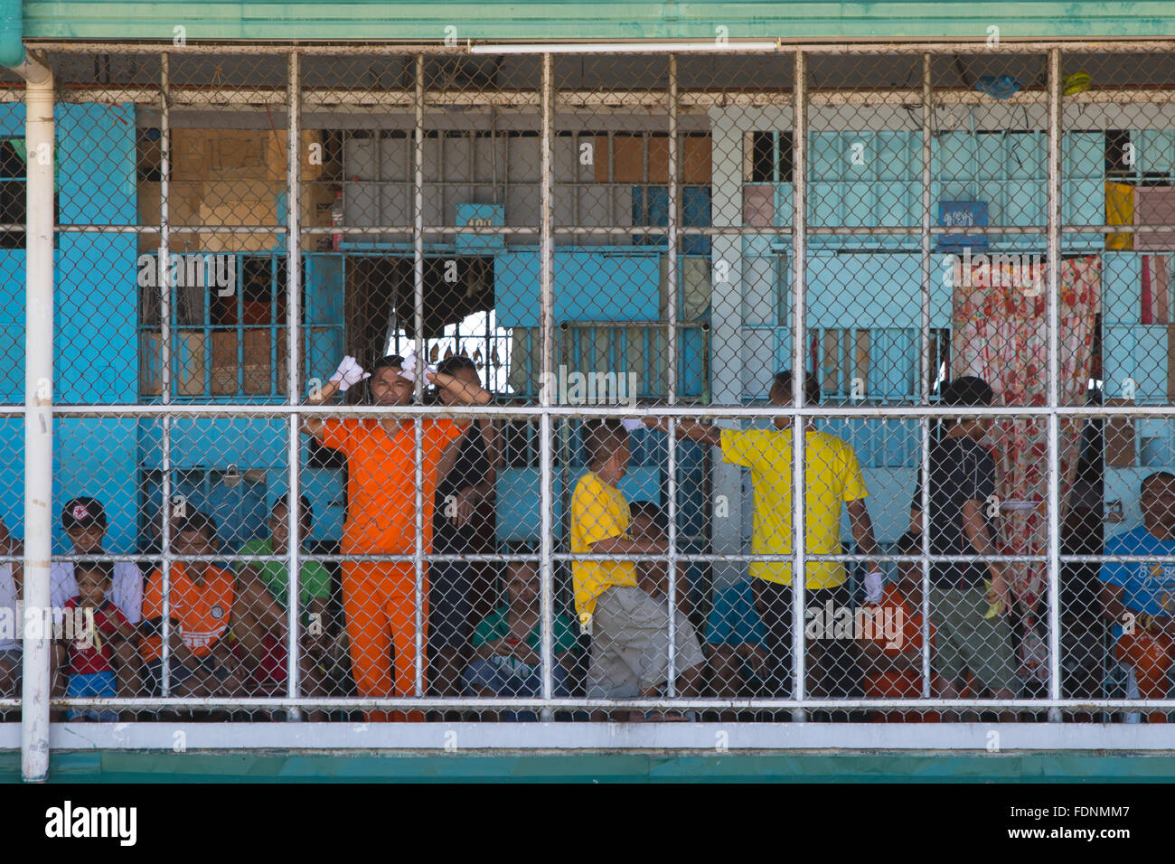 Inmates of the Cebu Provincial Detention and Rehabilitation Center, Cebu City,Philippines - Stock Image