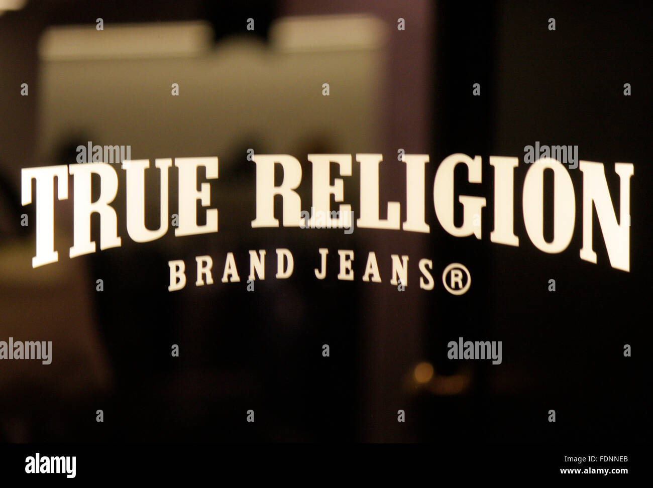 Markenname: 'True Religion', Berlin. - Stock Image