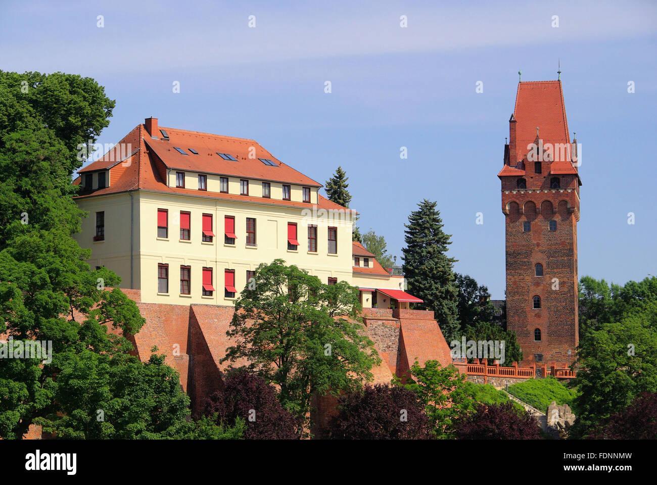 castle tangermünde,tangermünde,kapitelturm Stock Photo