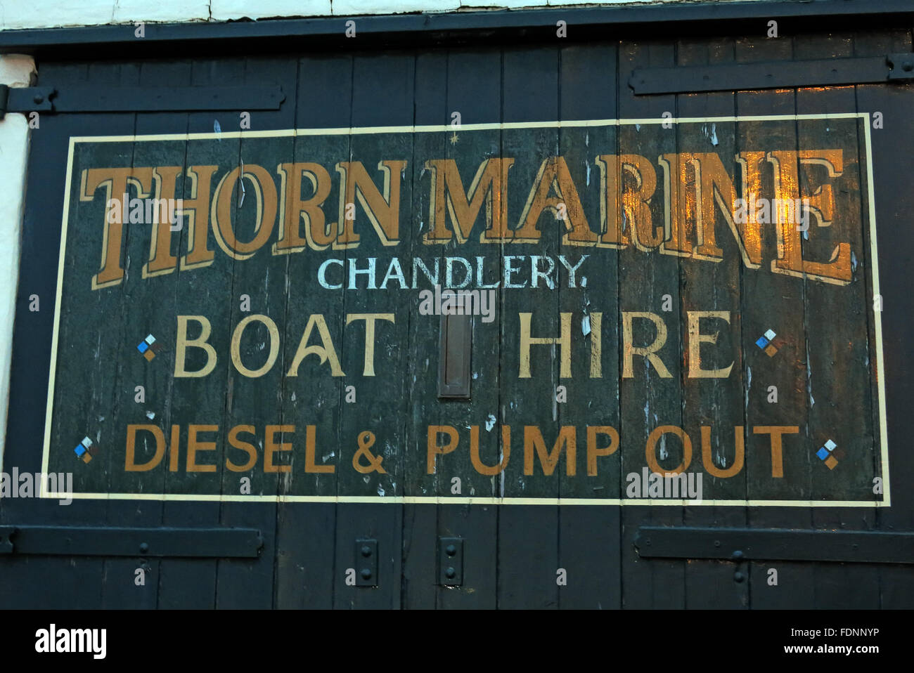 Thorn Marine Chandlery,Stockton Heath,Warrington,Cheshire,England,UK - Stock Image