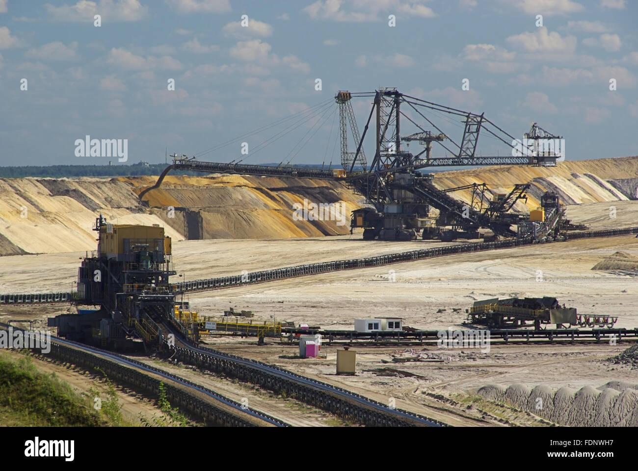 opencast,lignite,mining - Stock Image