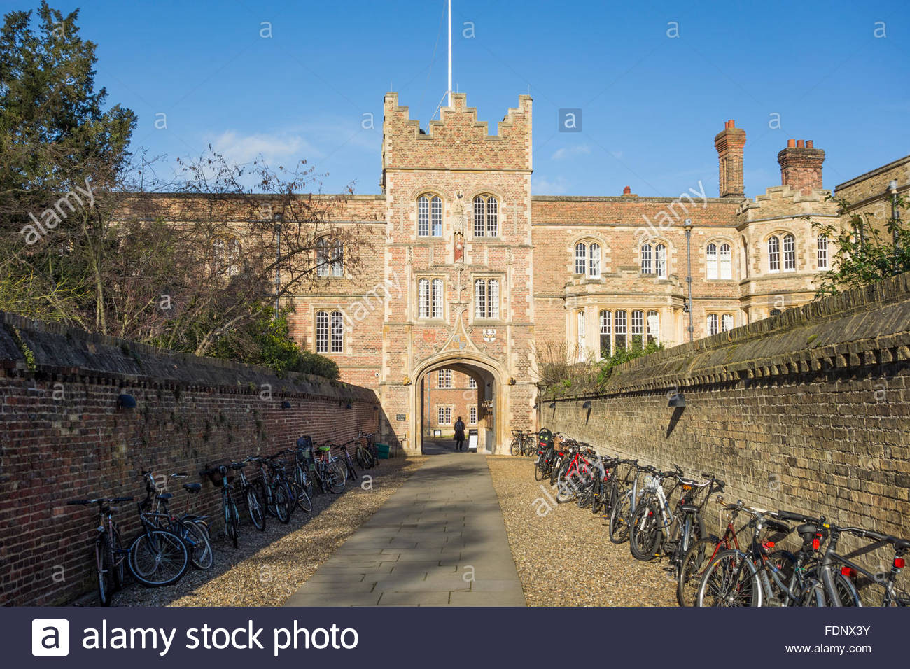 Jesus College Gatehouse, Cambridge, England, UK, part of the University of Cambridge (Cambridge University) Stock Photo