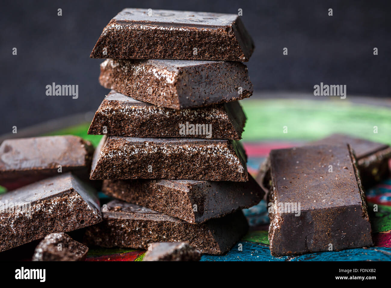 Cioccolato di Modica (Chocolate of Modica) sicilian specialty - Stock Image
