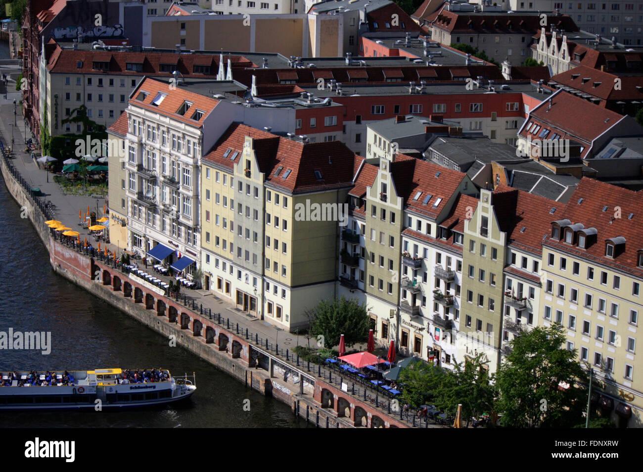 Luftbild: Fischerinsel, Berlin. - Stock Image