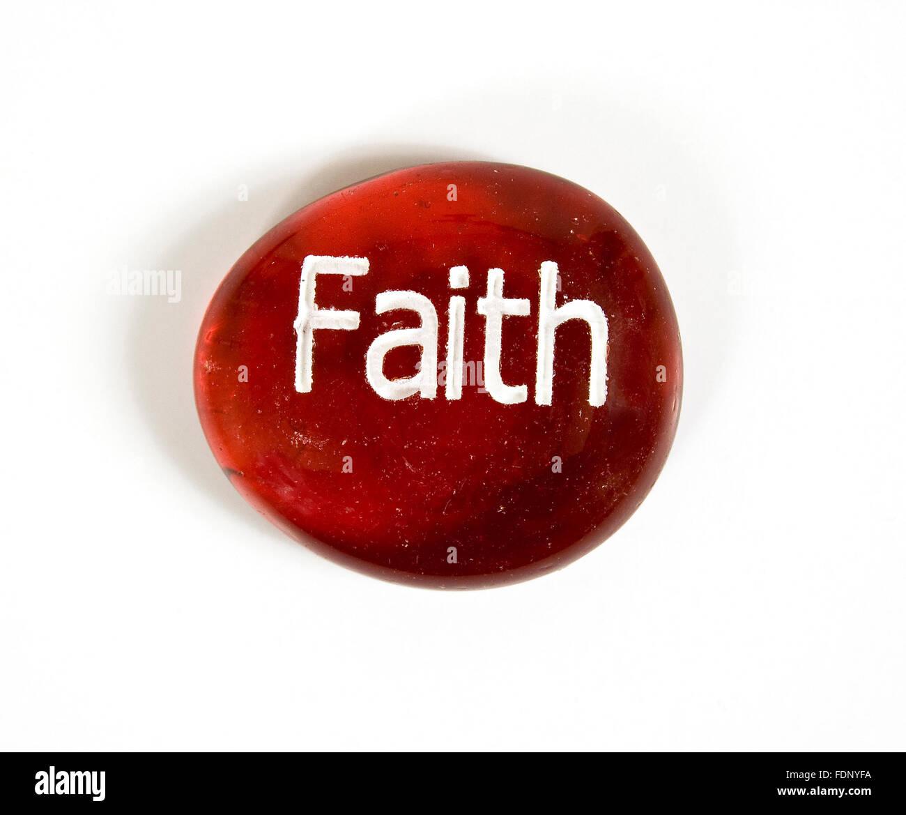 Faith Stone - Stock Image