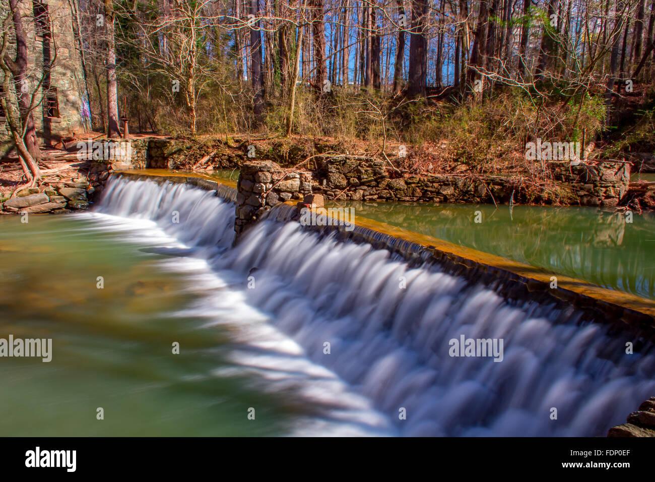 Lullwater Waterfall Spillway Stock Photo