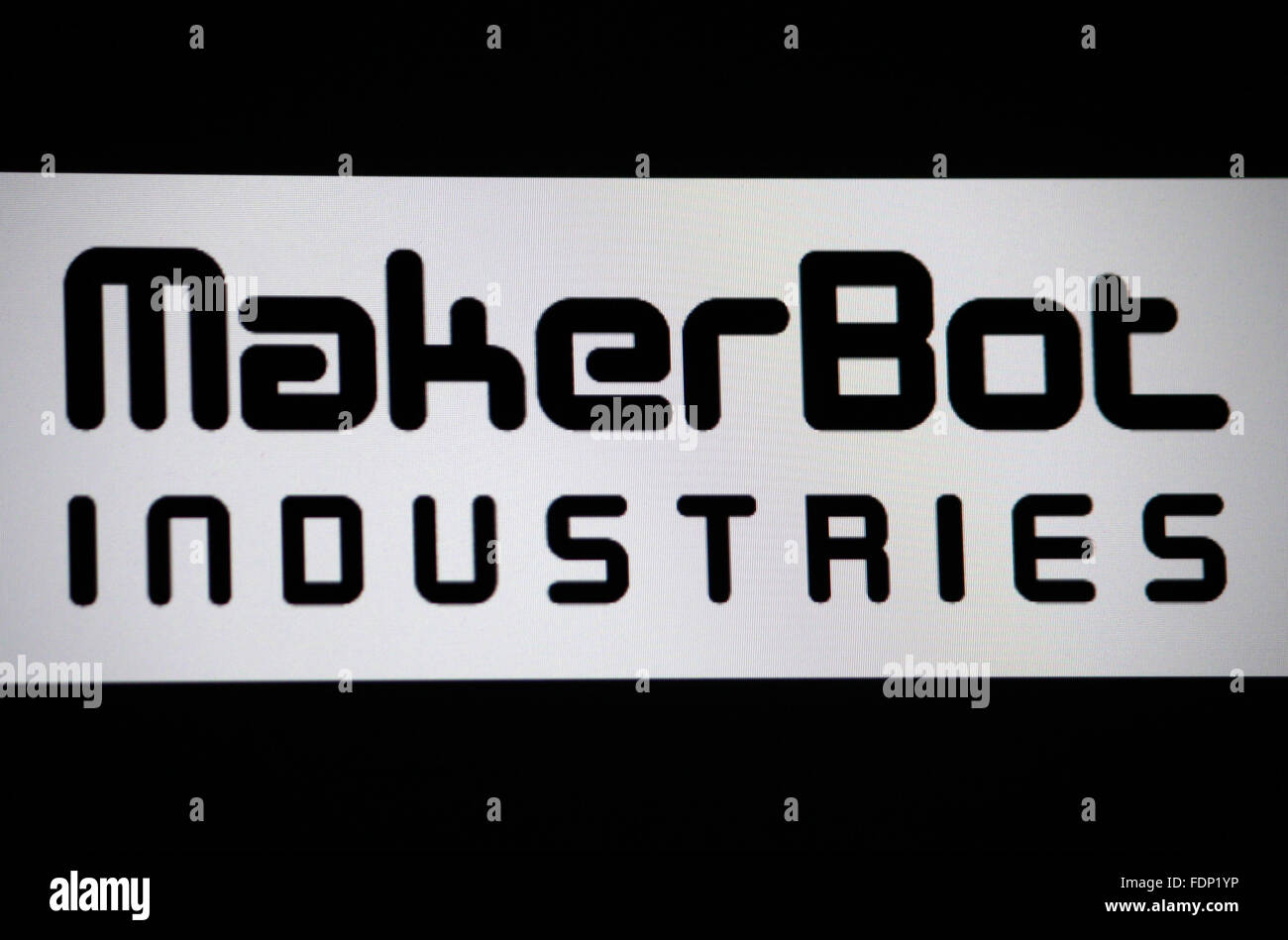 Markenname: 'Maker Bot Industries', Berlin. - Stock Image