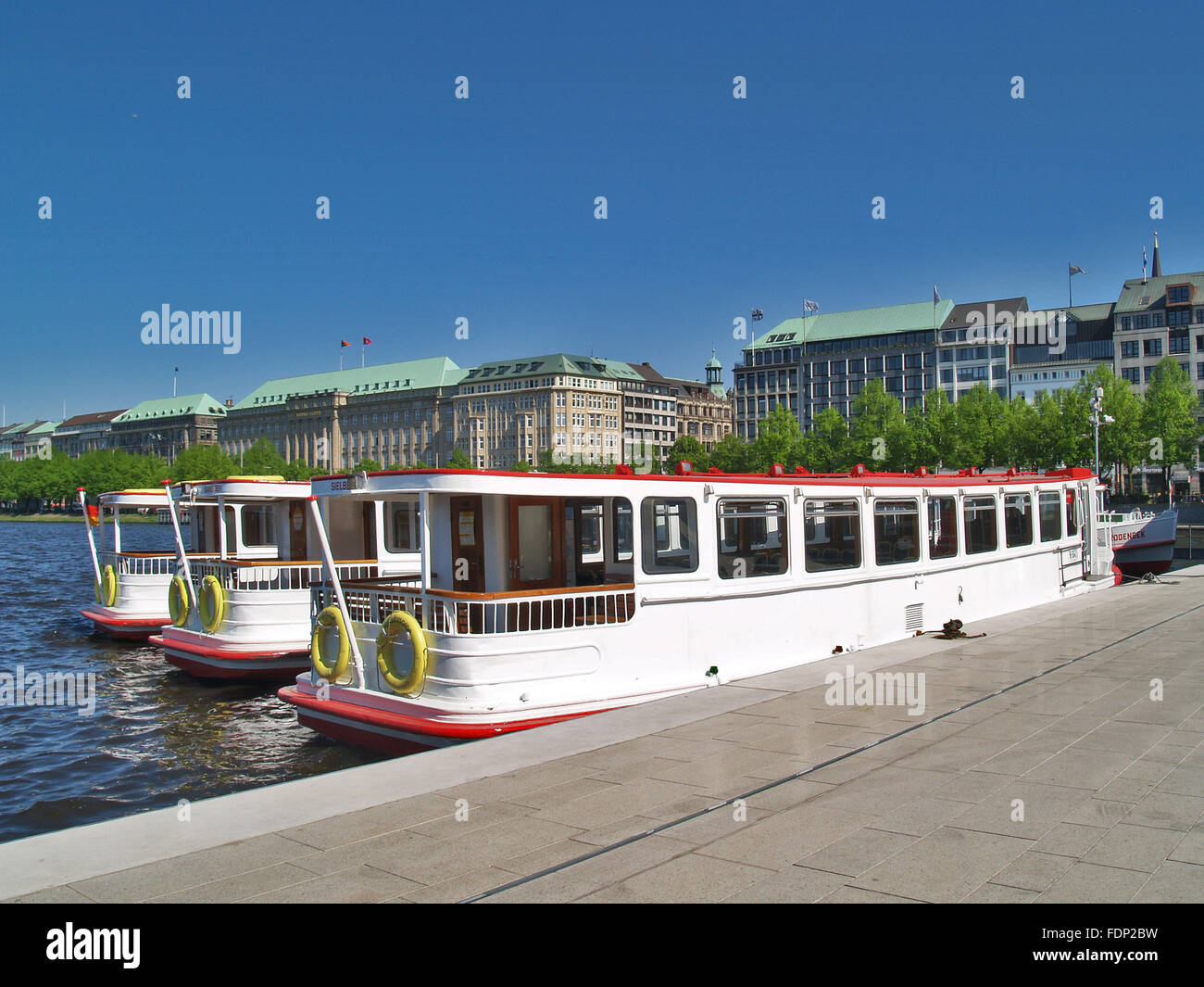 hamburg,binnenalster,excursion boat,alster cruise Stock Photo