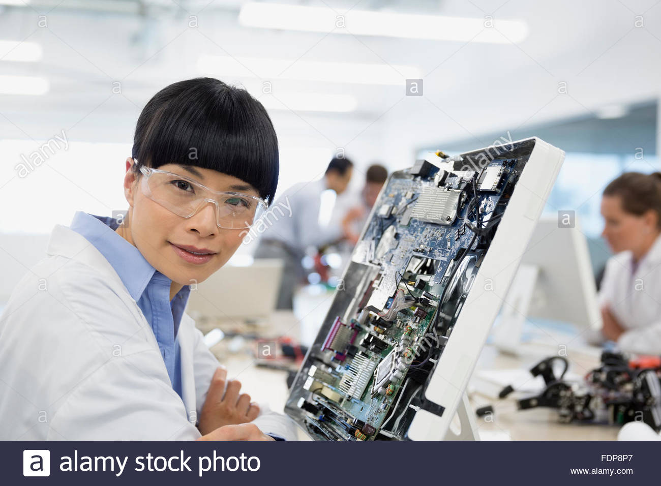Assembly Board Stock Photos Images Alamy Electronic Circuit Jobs Portrait Engineer Assembling Image
