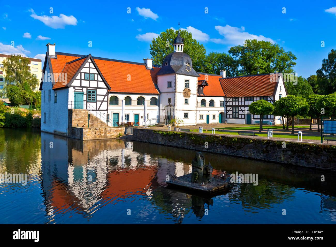 castle,dortmund,wasserschloss haus rodenberg - Stock Image