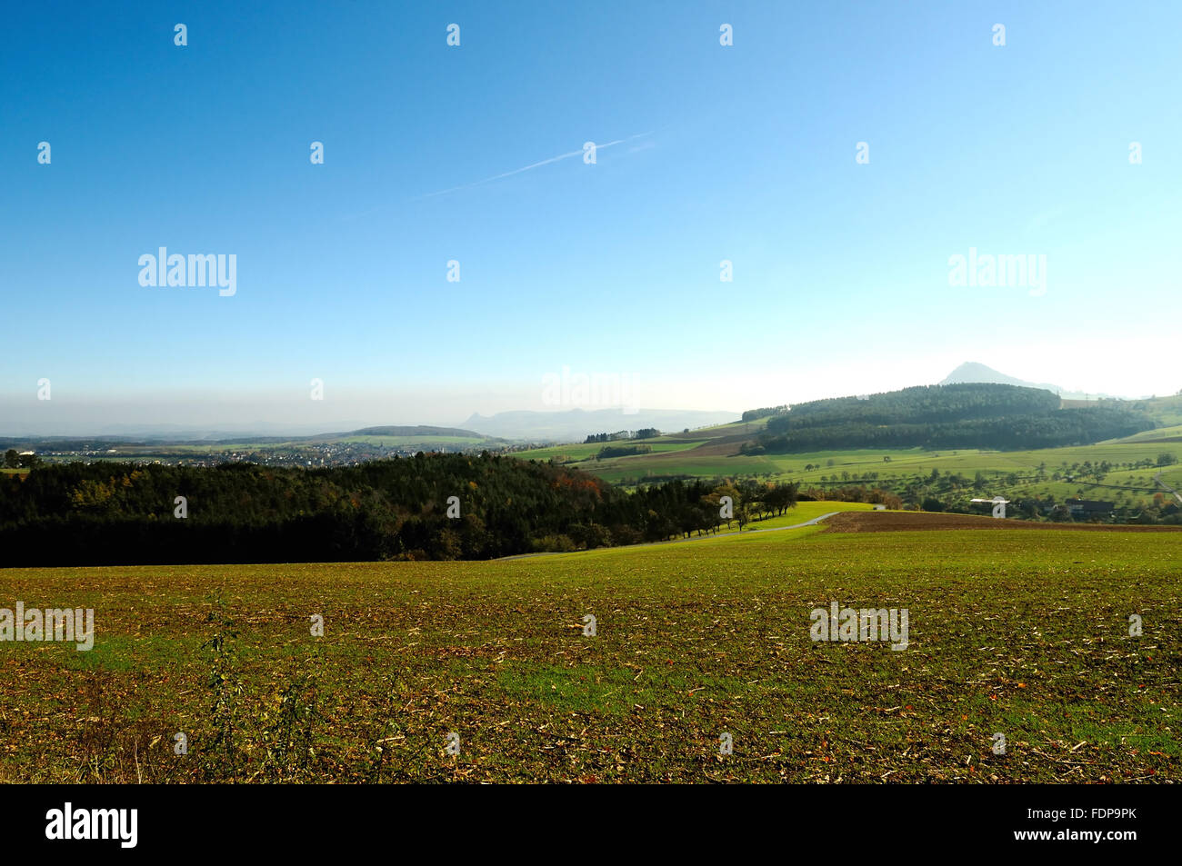 baden württemberg,distant view,hegau - Stock Image