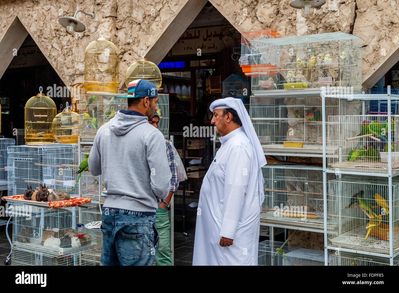The Bird Market At Souk Waqif, Doha, Qatar - Stock Image