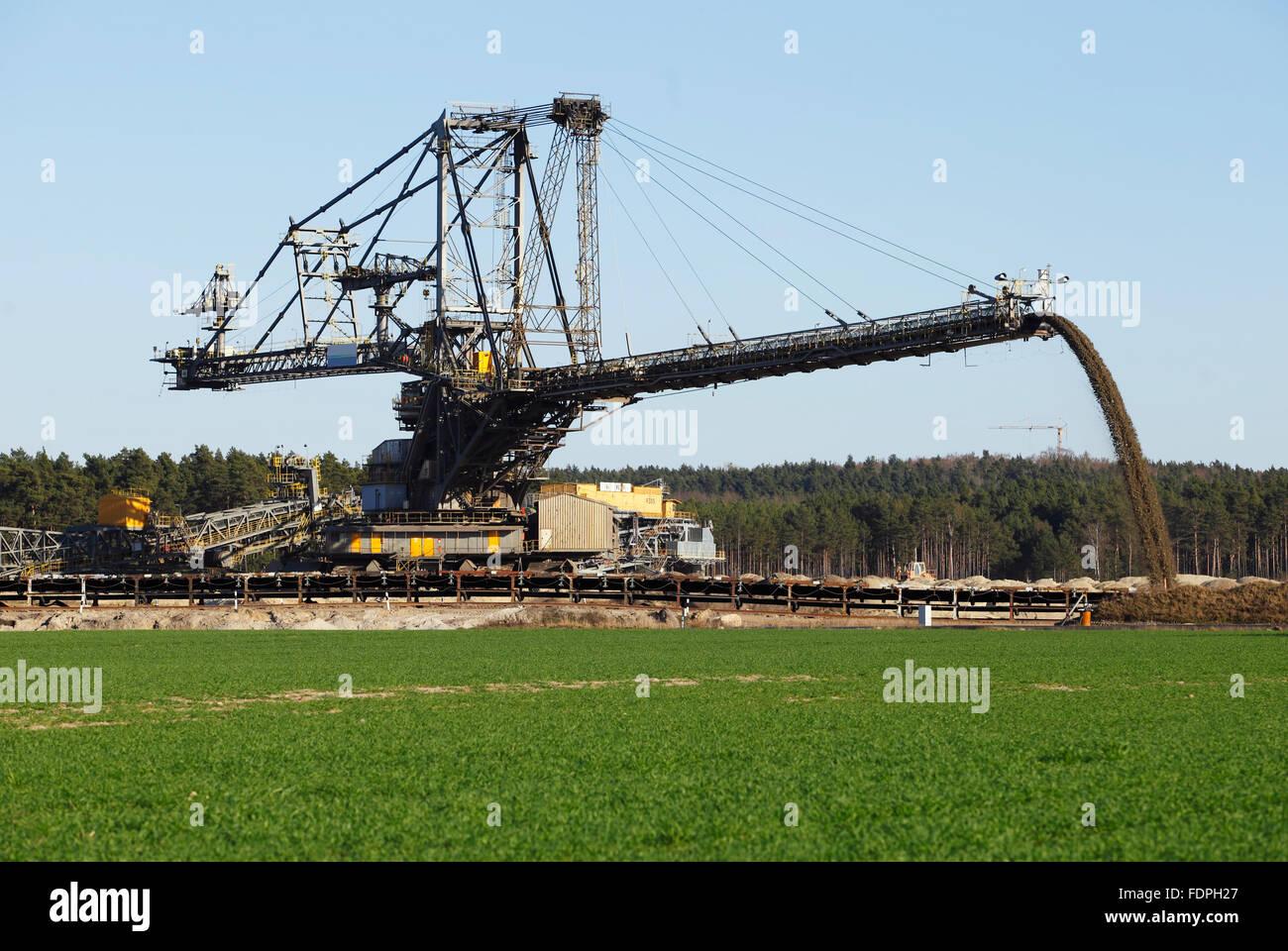 opencast,mining - Stock Image