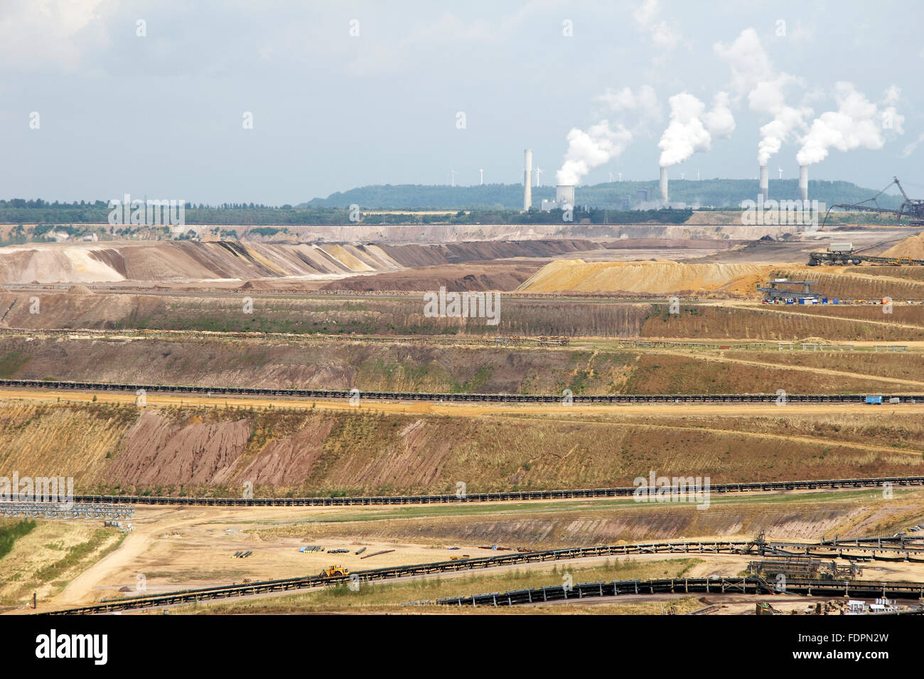 industry,opencast,garzweiler,mining - Stock Image