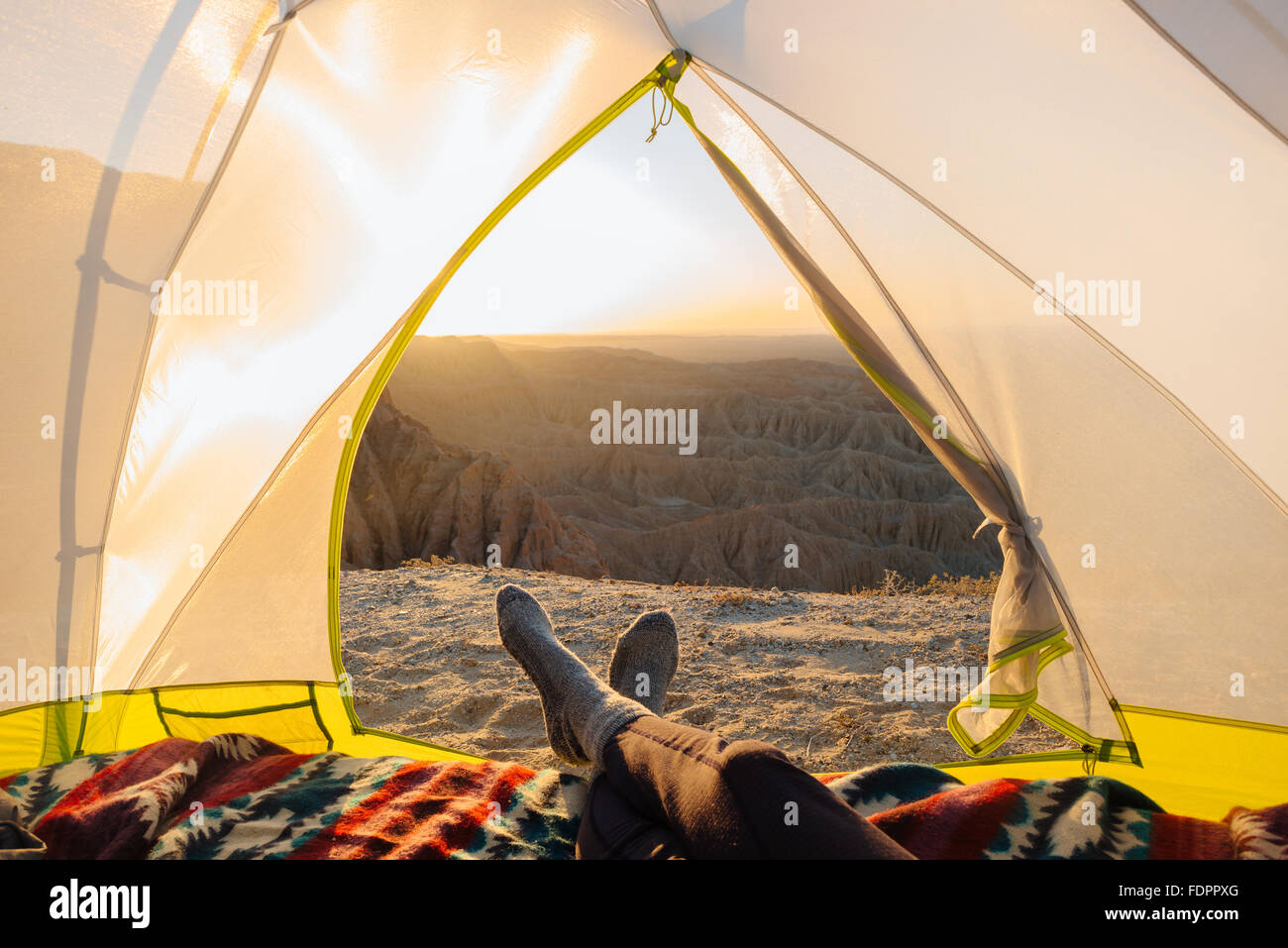 Camping at Font's Point in Anza-Borrego Desert State Park, California - Stock Image