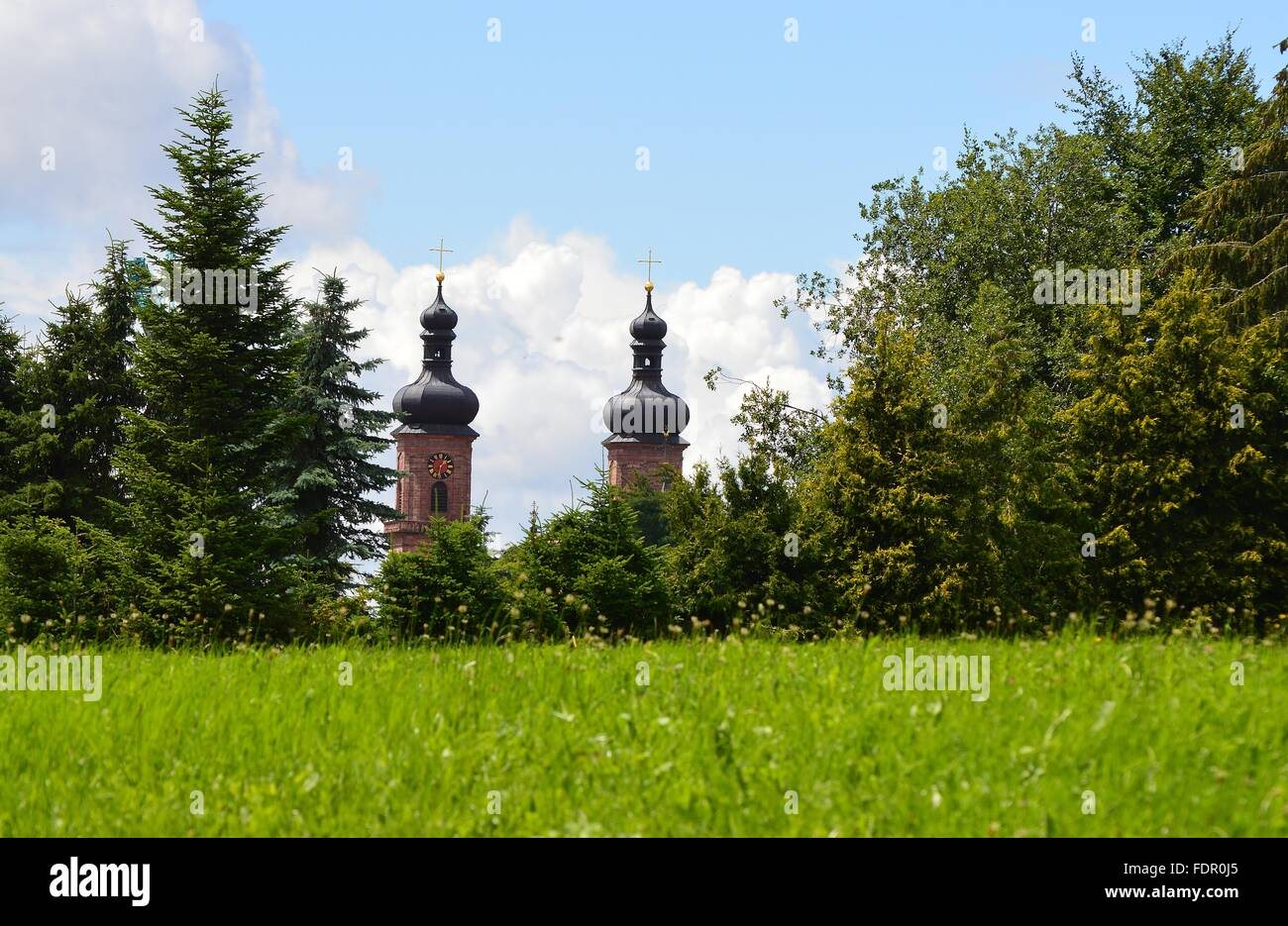 baden wurttemberg,bell towers - Stock Image