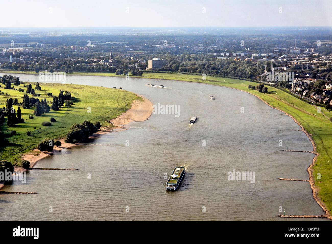 rhine river,water transport,rhineland - Stock Image