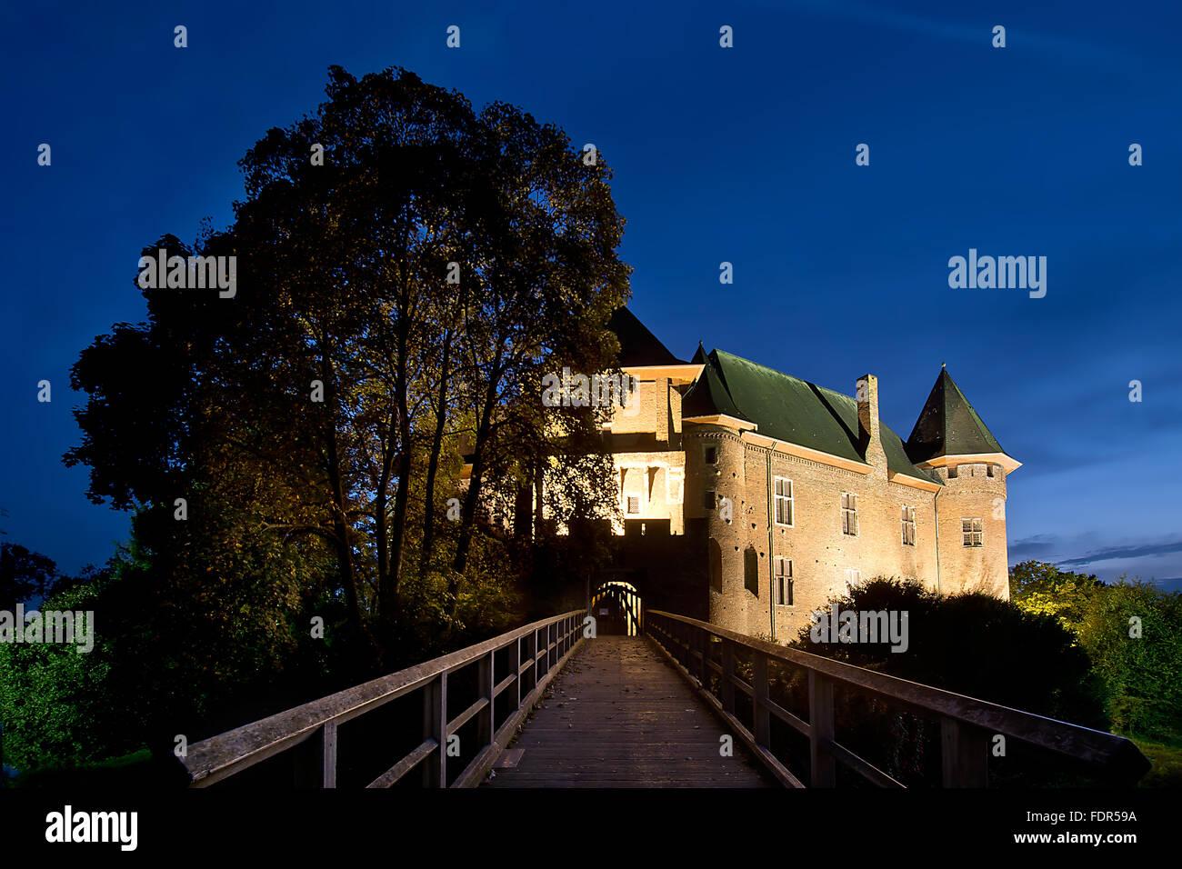 castle,castle linn,krefeld - Stock Image
