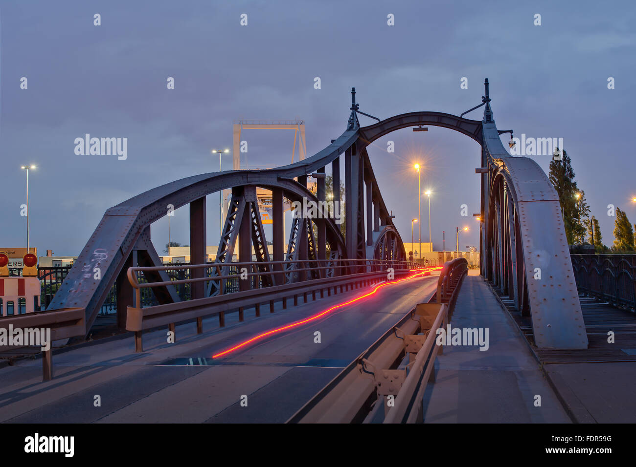bridge,linn,swing bridge,krefeld Stock Photo