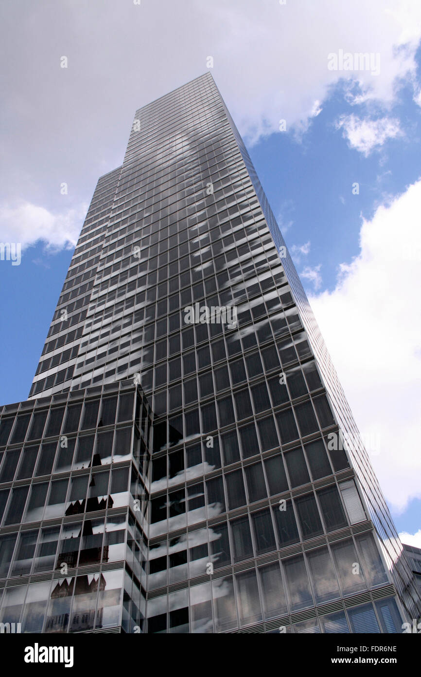 office building,skyscraper,glass facade,cologne tower - Stock Image