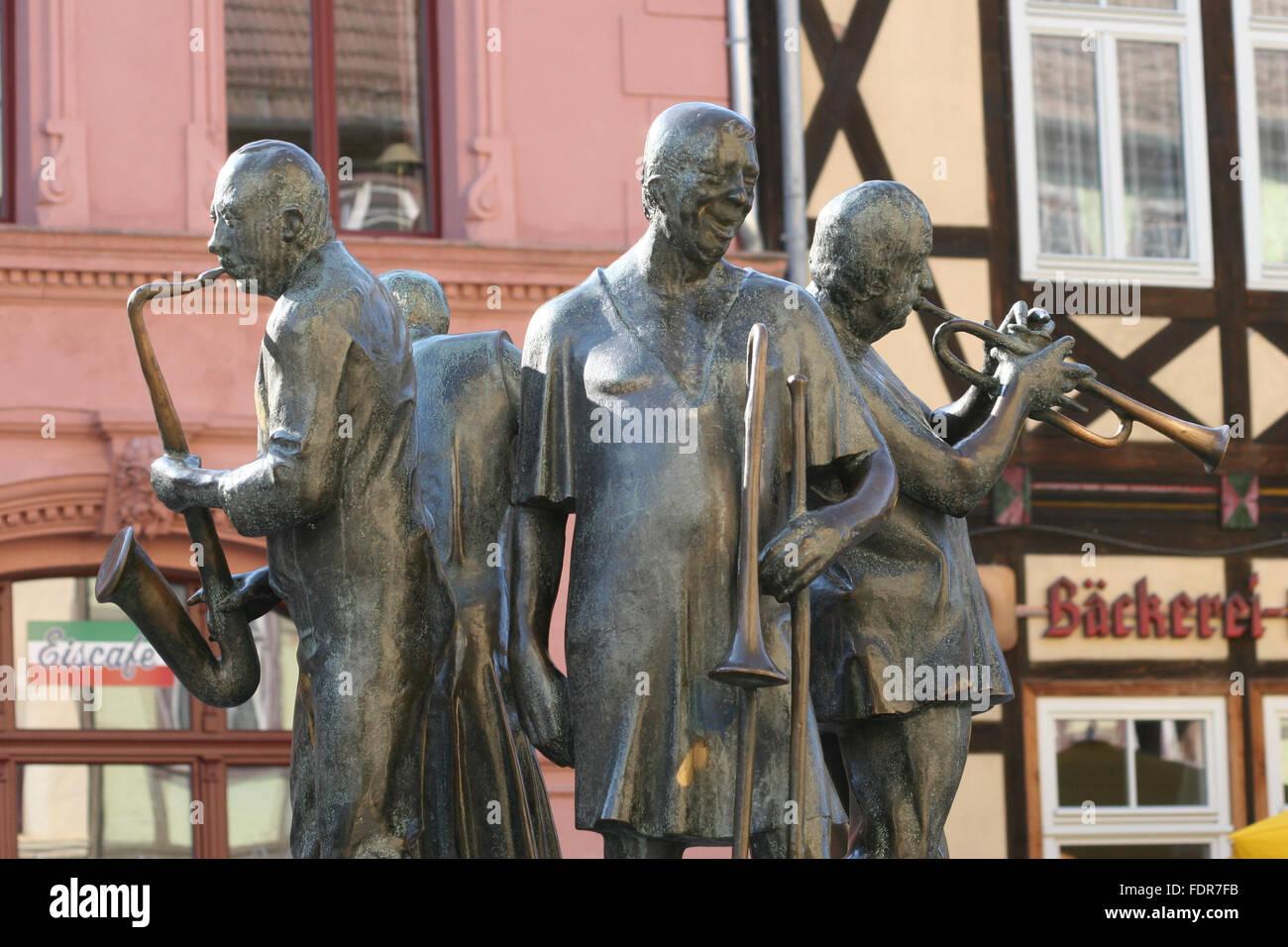 Quedlinburgmünzenberger Musikanten Stock Photo 94553183 Alamy
