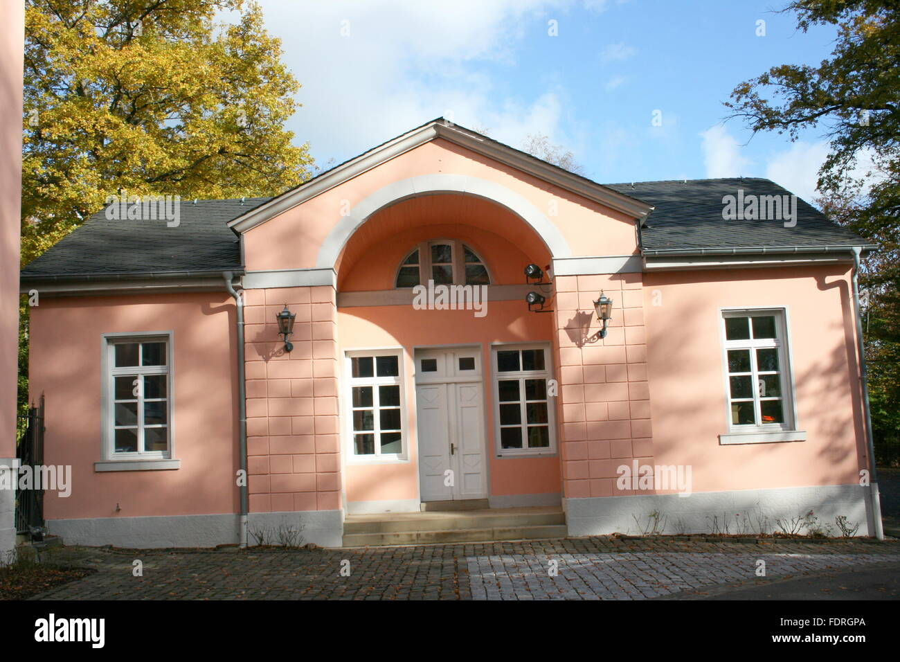 old house,public building - Stock Image