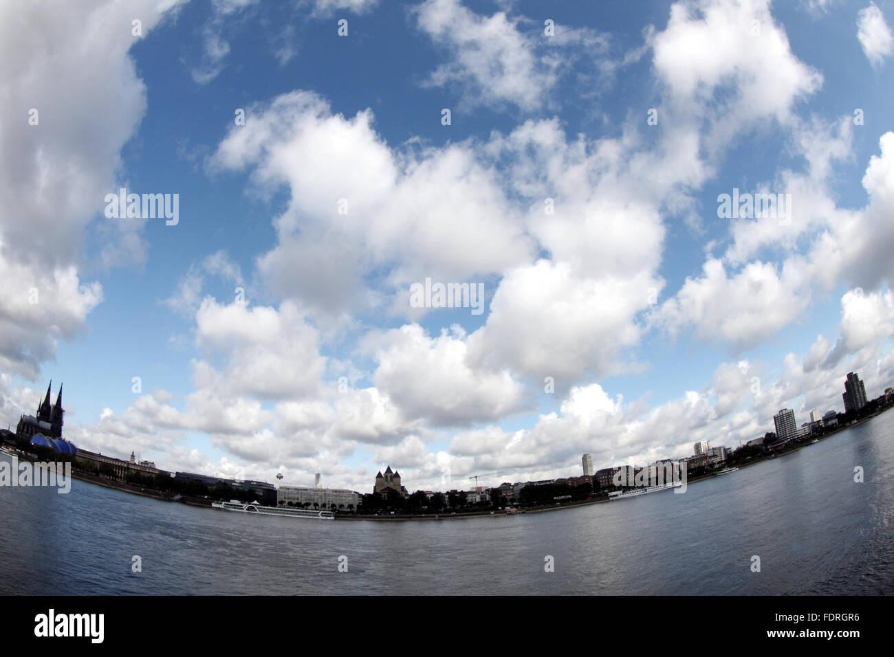 cologne,rhine river - Stock Image