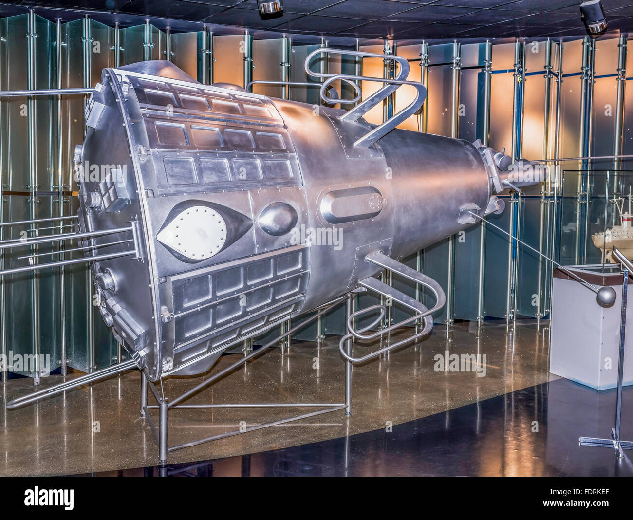 MOSCOW; RUSSIA- OCTOBER 06- Third Earth Satellite, was launched on May 15,1958 in Space Museum on October 06; 2015 - Stock Image