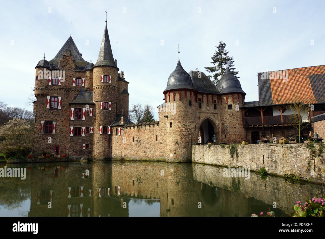 castle,water castle,satzvey - Stock Image