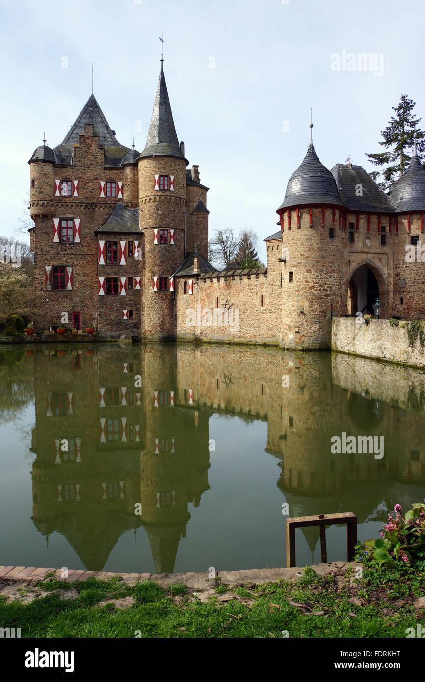 water castle,satzvey - Stock Image