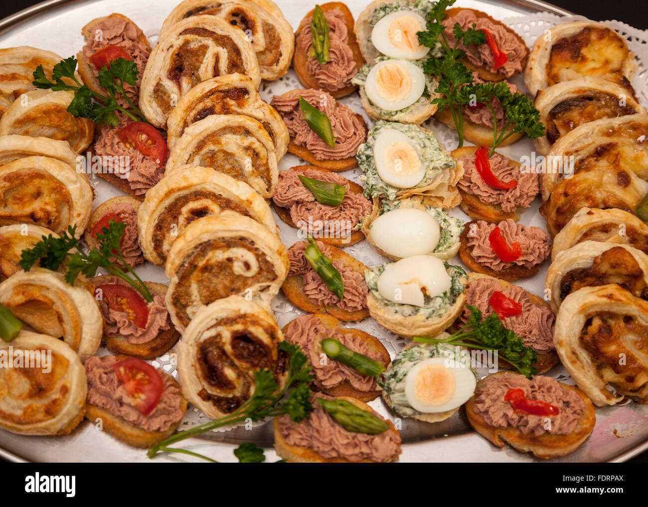 Buffet food at a party event - Stock Image