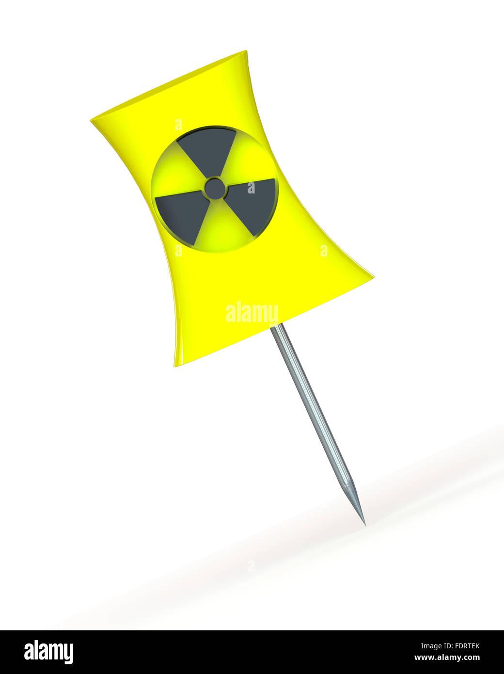 pin,radioactivity - Stock Image
