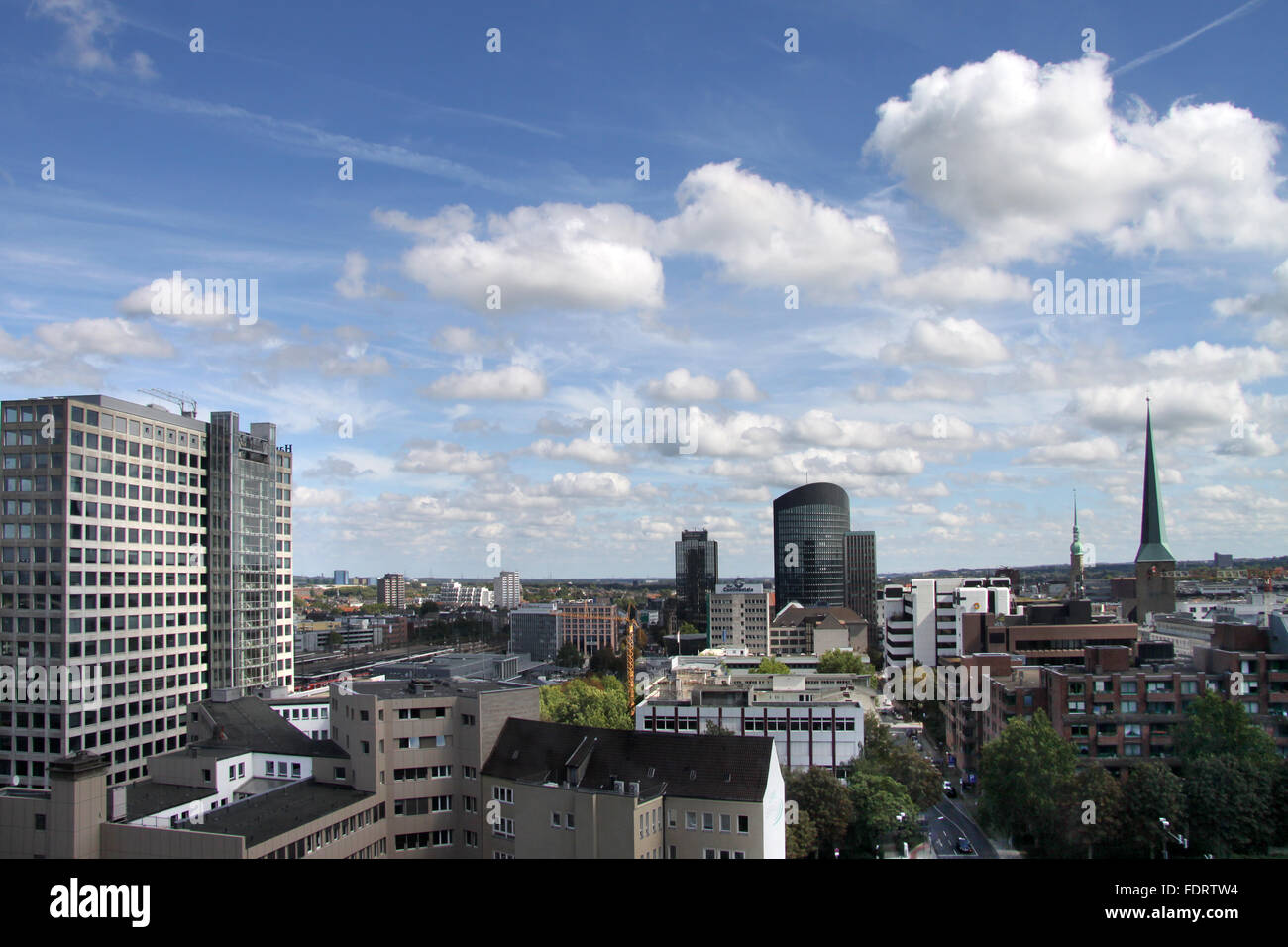 city view,dortmund - Stock Image