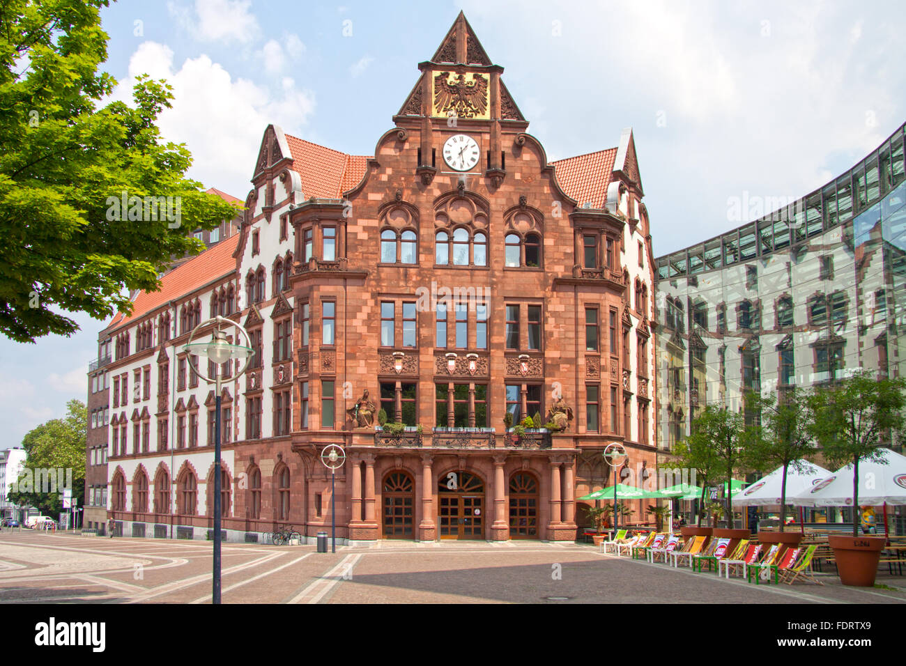 town hall,dortmund,peace place - Stock Image