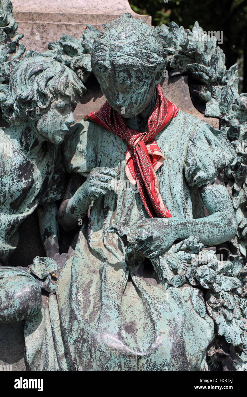 bronze figure,fountain figurine - Stock Image