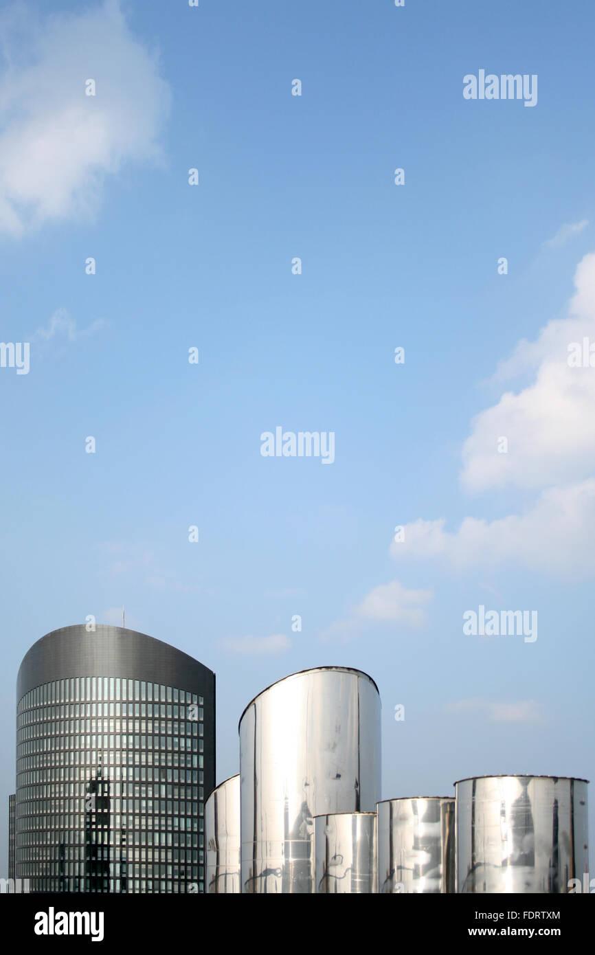 office building,ventilation tube,dortmund - Stock Image