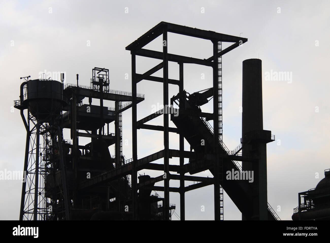 ruhrgebiet,steel mill,phoenix west - Stock Image