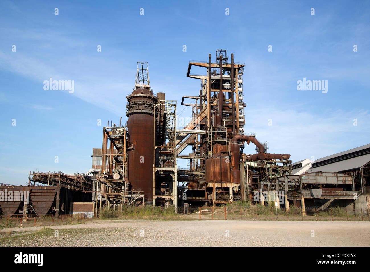 steel mill,industrial ruin - Stock Image
