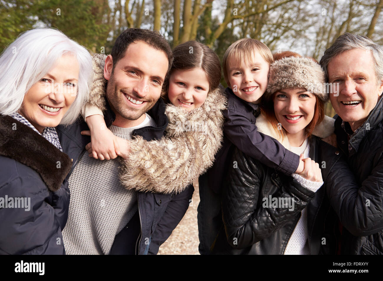 enjoyment,relaxation,togetherness,extended family - Stock Image