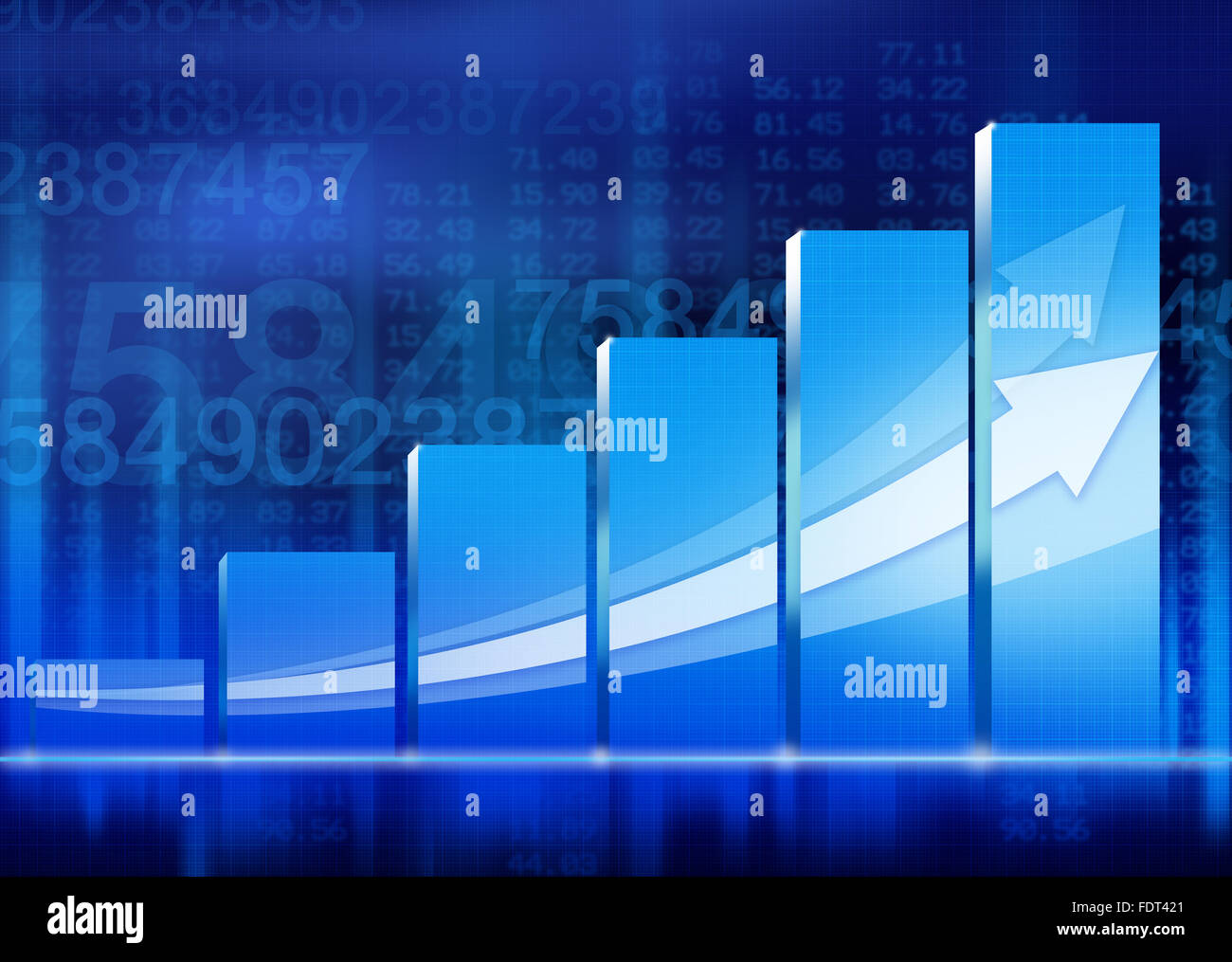 growth,arrow,bar graph,chart - Stock Image
