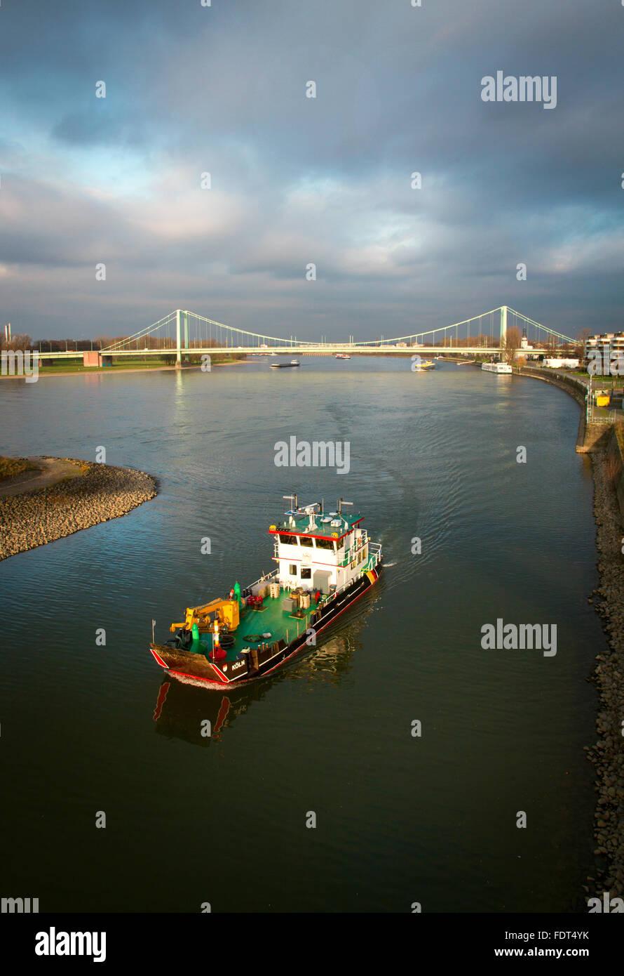 rhine river - Stock Image