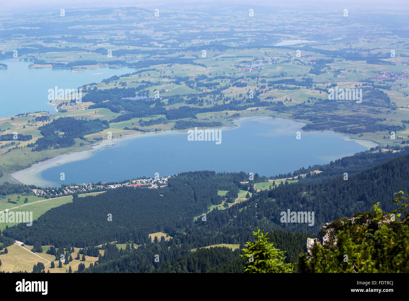 aerial view,bavaria,alpsee Stock Photo