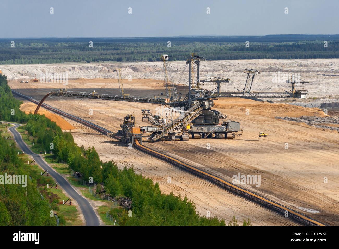 opencast,nochten,pit mine - Stock Image