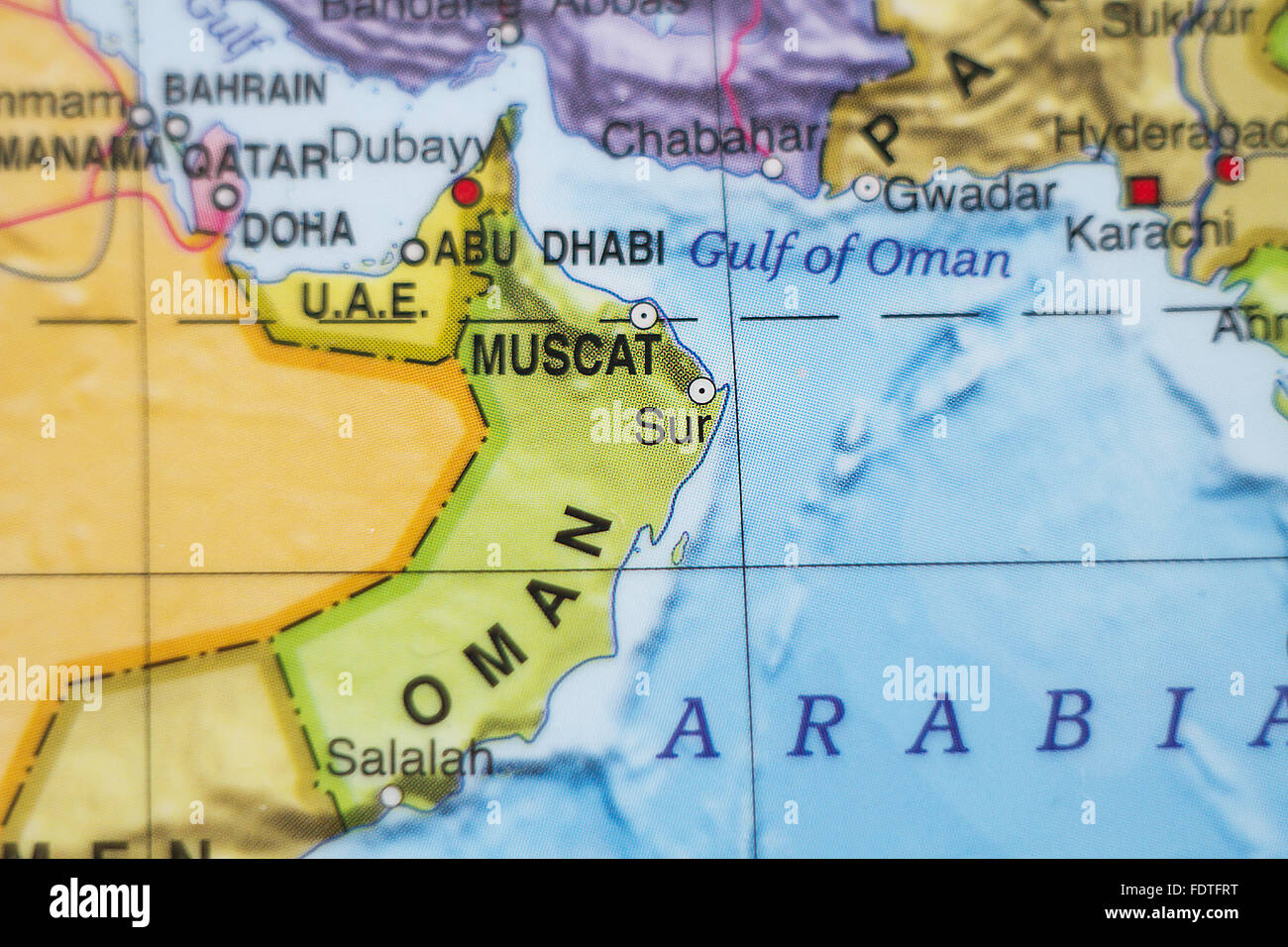 Map Oman High Resolution Stock Photography And Images Alamy