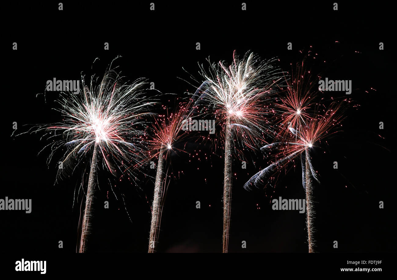 Berlin, Germany, fireworks Stock Photo