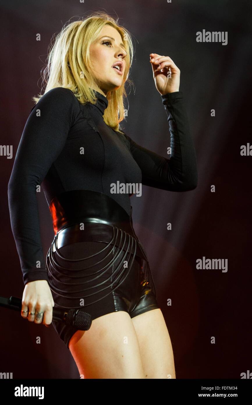 Milan Italy. 01th February 2016. The British singer/songwriter and multi-instrumentalist ELLIE GOULDING performs Stock Photo