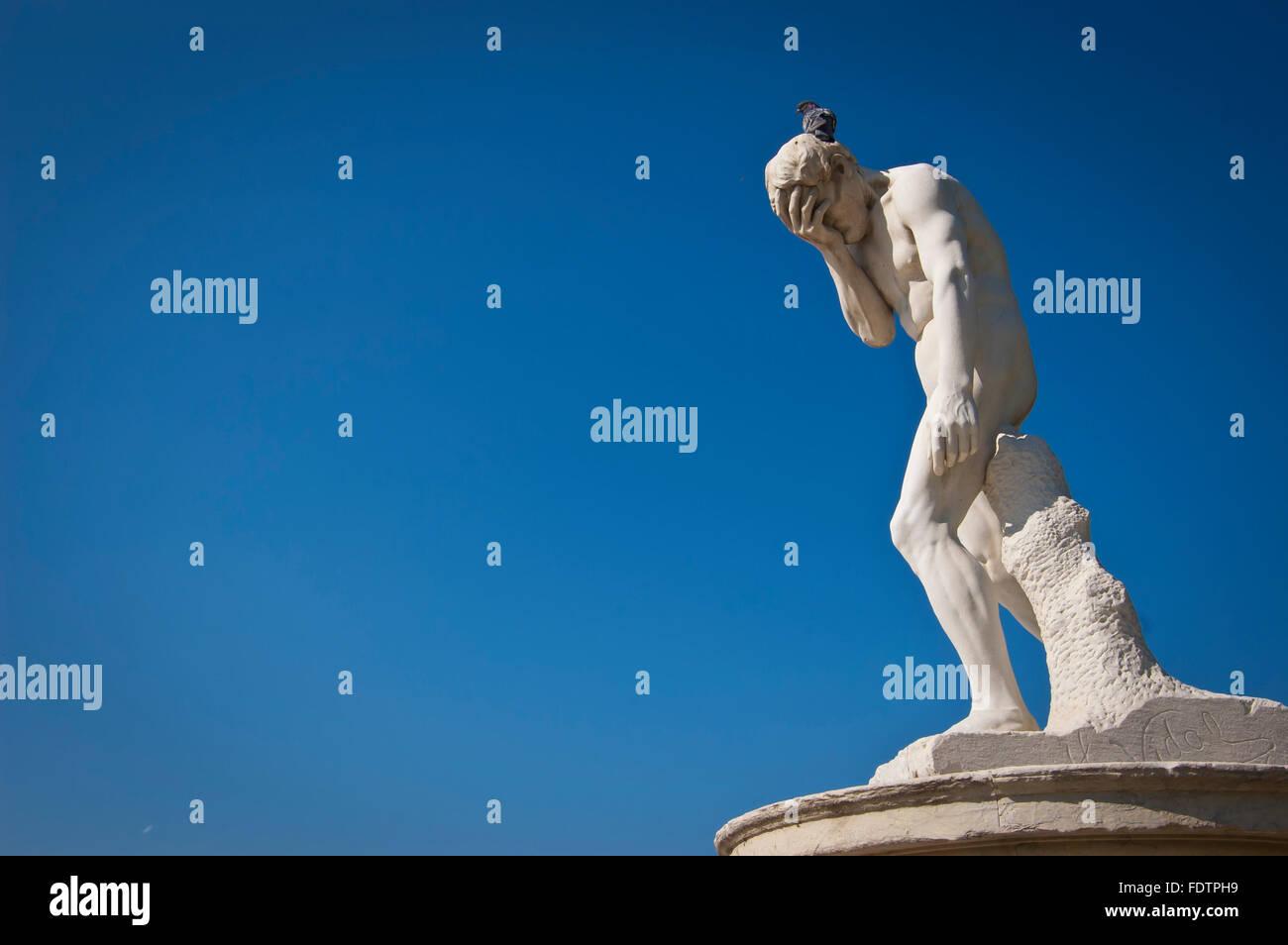 France, Paris, sculpture at Jardin des Tuileries - Stock Image