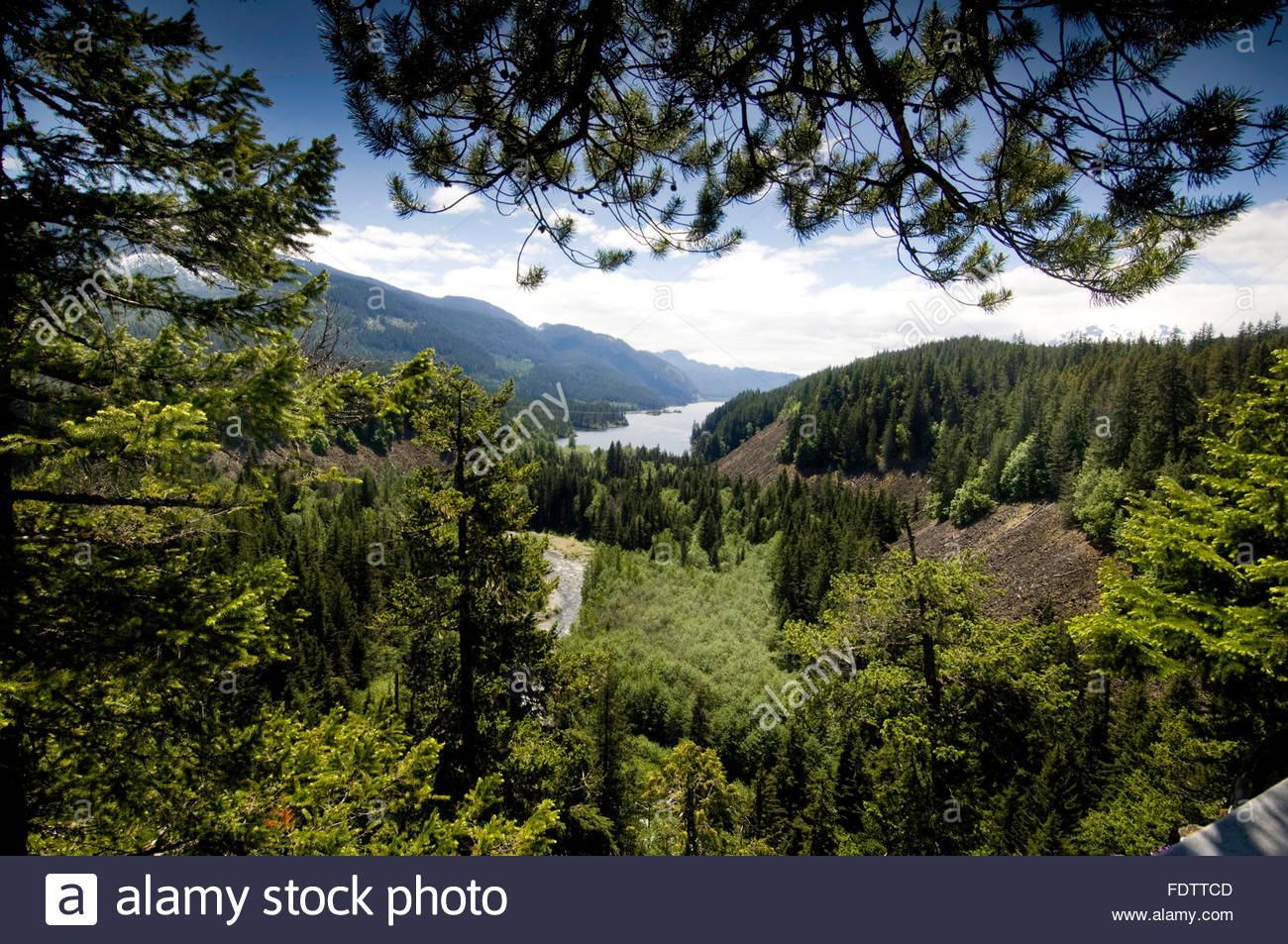 View of surrounding countryside from Brandywine falls Provincial park. Close to Squamish and Whistler. North Vancouver, - Stock Image