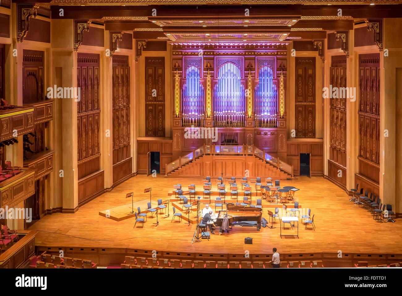 Oman, Muscat, Royal Opera House, stage - Stock Image